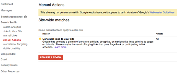 Dealing with a Google Unnatural Links Penalty (Case Study)
