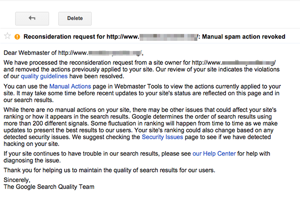 Dealing With a Google Unnatural Links Penalty (Case Study): Part 2